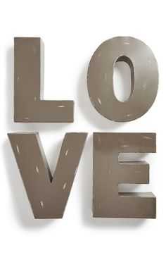 Free shipping and returns on FORESIDE 'Love' Decorative Metal Letters at Nordstrom.com. Fill your home with love by decorating with distressed metal letters that can be displayed as a freestanding set or hung on the wall.