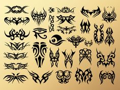 Tribal Tattoos for possible consideration for the warrior tattoo. Mayan Symbols, Viking Symbols, Egyptian Symbols, Viking Runes, Ancient Symbols, Wiccan Tattoos, Symbolic Tattoos, Egyptian Symbol Tattoo, Tribal Art Tattoos