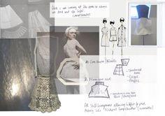 Fashion Sketchbook - fashion design exploring transparency - research, fashion drawings  structure development; fashion portfolio // Emilie Hale
