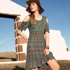 Платье с волнистым узором
