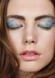 Like watercolor on eyes