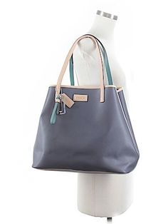 I love the pop of color against the neutrals. Coach Factory tote- 68% off retail!