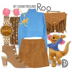 Roo by leslieakay on Polyvore featuring мода, Monki, Oasis, Glamorous, Michael Kors, Chan Luu, Trina Turk, disney and disneybound