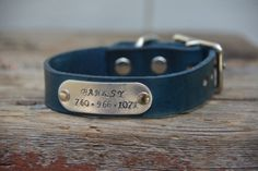 Personalized Leather Dog Collar with by MarlonBrandLeather on Etsy