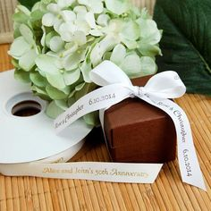 Show love for the environment as you decorate for your wedding or bridal shower with this eco-friendly ribbon!