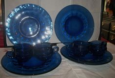 Kings Crown dish set blue by ALEXLITTLETHINGS on Etsy, $49.99