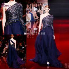 Free Shipping 2014 evening dress Sexy Long Sleeve See Through evening dresses vestido longo vestido de festa Long Evening Dress