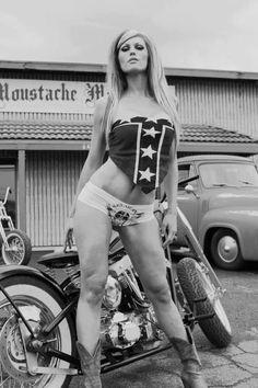 old school- Biker girl