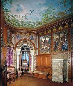 neuschwanstein castle interior inside map  7-  Dressing room