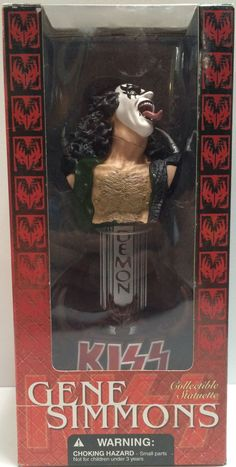 (TAS030595) - 2002 McFarlane Toys - Kiss Collectible Statuettes - Gene Simmons