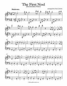 Free Piano Arrangement Sheet Music – The First Noel Choral Sheet Music, Flute Sheet Music, Guitar Sheet Music, Music Sheets, Free Christmas Music, Christmas Piano Sheet Music, Guitar Chords For Songs, Piano Songs, Teaching Music