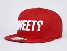 Trademark Red Fitted Baseball Cap by SWEET SKATEBOARDS