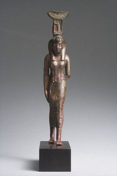 Bronze statuette of the Goddess Nephthys.Late Period c.a. 664-332 B.C.