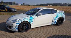 Implemented wrap design -  Broken Glass for Hyundai Genesis