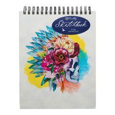 Floral Skull, Light Texture, Skull Art, Art Sketchbook, Paper Texture, Stationery, Doodles, Drawings, Sketching