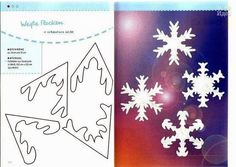 Sweet Home: paper snowflakes. Natural Christmas, Christmas And New Year, Christmas Time, Christmas Crafts, Christmas Decorations, Paper Snowflakes, Christmas Snowflakes, Christmas Wrapping, Handmade Christmas