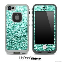 Glimmer Tiffany Green Skin for the iPhone 5 or 4/4s LifeProof Case