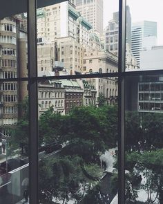 City view from the MoMA windows. #MoMA #sunday #cityview #window #weststreet #newyorkstateofmind #nyc #rosefield #rosefieldwatches