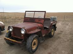 1947 CJ2A Havre, MT these are what I would love to find to fix up
