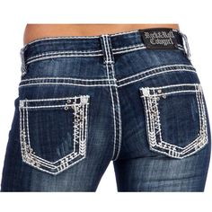 Rock N Roll Cowgirl Skinny Vintage Dark Wash Jeans These are super cute!!!!
