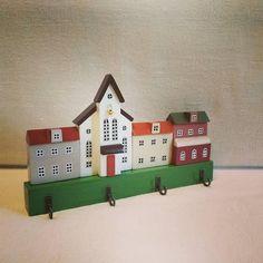 Miniature house/House/Hanger for keys/Jewelry Display/Home Decor/Wall Key Holder/3D Wood Wall Art