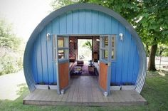 Quonset Hut Homes Design, Great Idea for a Tiny House Man Cave And She Shed, Quonset Hut Homes, Shed Of The Year, She Sheds, Building A Shed, Building Plans, Tiny House Living, Shed Plans, Barn Plans