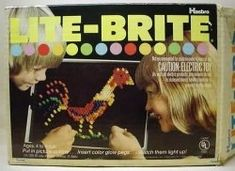 Growing up in the 1980s and 1990s, I have fond memories of my lite brite. It is a classic toy that Hasbro starting selling in 1967.    Lite Brite...