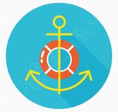 Ancla y salvavidas, camiseta estilo playero. Diagram, Chart, Lifebuoy, Anchors, Chemises, Colors, Style