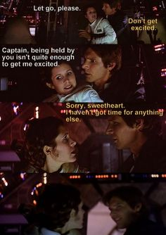 Star Wars Episode V The Empire Strikes Back Han & Leia. OMG I love this scene. - Star Wars Funny - Funny Star Wars Meme - - The post Star Wars Episode V The Empire Strikes Back Han & Leia. OMG I love this scene. appeared first on Gag Dad. Harrison Ford, Han And Leia, The Force Is Strong, The Empire Strikes Back, Bad Feeling, Star Wars Humor, Love Stars, Get Excited, Star Wars Episodes