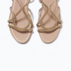 FLAT CHAIN SANDALS from Zara | Vegan Shoes