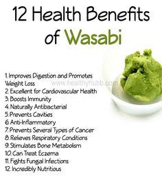 12 Health Benefits of Wasabi! #healthy #sushi #wellness #japanese