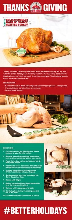 A quick and easy Thanksgiving recipe for turkey preparation hack.