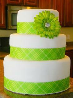 Lime Green Cake!