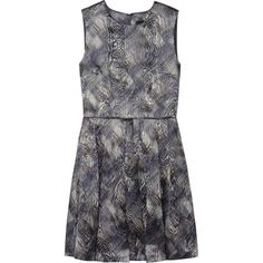 Cynthia Rowley Metallic brocade dress (345 BAM) ❤ liked on Polyvore featuring dresses, anthracite, loose dresses, loose fitted dresses, metallic brocade dress, metallic dress and loose fit dress