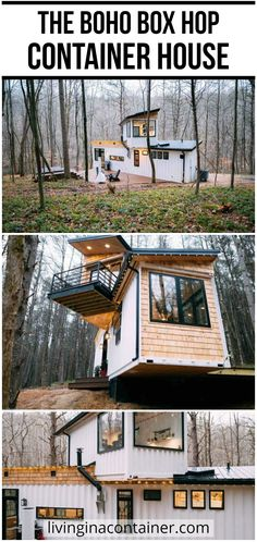 Glass House Design, Wooden House Design, Modern Small House Design, Modern Villa Design, House Front Design, Modern House Plans, Building A Container Home, Container House Plans, Container Homes