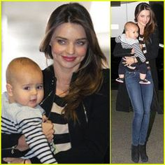 Miranda Kerr & Flynn: Calm Mother & Calm Baby! Miranda Kerr carries her son Flynn while walking into the airport on Tuesday (August 9) in Sydney, Australia.    The 28-year-old Aussie model ...