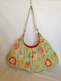 Colorful Floral Extra-Large Tote or Pool/Beach Bag on Etsy, $55.00