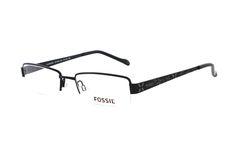 FOSSIL Plainview OF 1204 001 Brille in schwarz | Diese Teilrandbrille von Fossil ist sportlich elegand und überaus sexy! Die aus Metall gefertigte Brille lässt sich dank der hochwertigen Verarbeitung super leicht tragen. Klassisch innovativ und sehr lebendig - mit dieser Brille sind...
