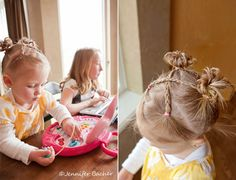 Cute little girl hairstyle