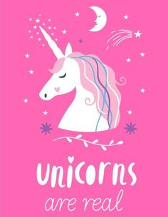 Extremely Cute #Unicorn Sugar Plum Pink #Notebook - Unicorns Are Real