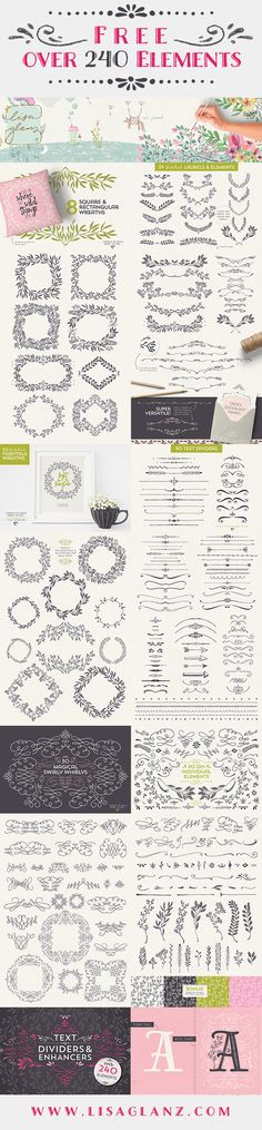 Free - Over 240 Elements by Lisa Glanz