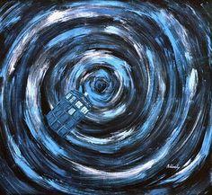 swirly time vortex TARDIS art
