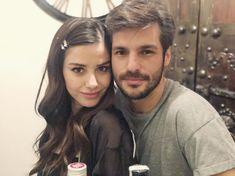 Image may contain: 2 people, indoor Cherry Season, Turkish Actors, Celebs, Celebrities, Handsome, It Cast, Actresses, Couple Photos, Couples