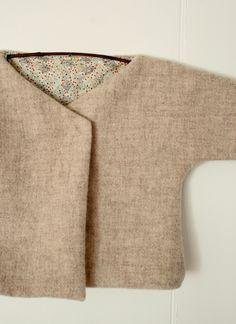 Molly's Sketchbook: Felted Wool Baby Jacket Pattern via Purl Soho Sewing Patterns Free, Free Sewing, Baby Patterns, Free Pattern, Wool Felt, Felted Wool, Purl Bee, Felt Baby, Felt Kids