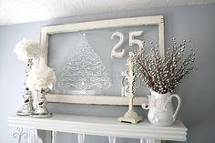 shabby chic Christmas - Click image to find more Holidays & Events Pinterest pins