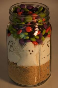 Cute S'mores in a jar idea