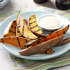 Grilled Sweet Potato Wedges Recipe -I love when an entire meal can be cooked outside on the grill and I don't need to heat up the kitchen. These grilled sweet potatoes meet that requirement and are healthy, too! Potato Wedges Recipe, Sweet Potato Wedges, Grilling Recipes, Vegetable Recipes, Cooking Recipes, Campfire Recipes, Side Dishes For Bbq, Vegetable Dishes, Grilled Sweet Potatoes