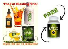 """Ok whose Ready to take their Health to the Next Level? ================>>>TODAY ONLY<<<================== Purchase our FAT BLASTING TRIO and I will personally send you a FREE Bottle of NRG. Ends at 11:00PM (EST) Tonight!  Order Here==> http://gethealthywithtamika.com Click """"Shop"""" #getheatlhywithtamika #resolutiondrops #iasotea #nutraburst #nrg"""