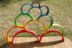 Grimm's Toys, Grimms Rainbow, Rainbow Blocks, Block Area, Wooden Rainbow, Handmade Wooden Toys, Stacking Toys, Rainbow Pride, Letter B