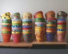 @KatieSheaDesign ♡♡ #KDC #Fav ♡♡    Some beautiful handpainted pots from 'Down in the Garden'.